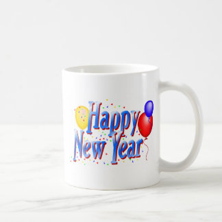 Happy New Year T-Shirts New Year's Basic White Mug