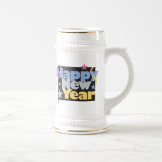 Happy New Year T-Shirts New Year's Beer Steins