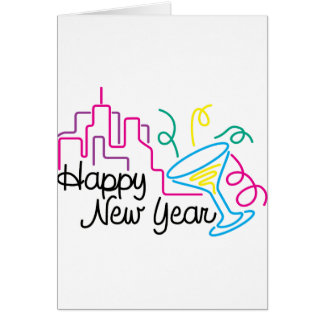 Happy New Year T-Shirts New Year's Greeting Cards