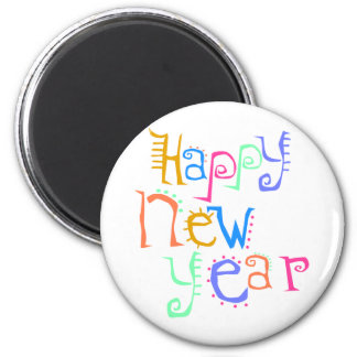 Happy New Year T-Shirts New Year's 6 Cm Round Magnet