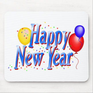 Happy New Year T-Shirts New Year's Mouse Pads