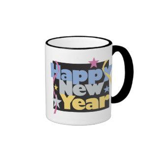 Happy New Year T-Shirts New Year's T-Shirt Ringer Mug