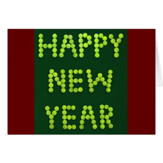 Happy New Year - Tennis Fans Greeting Card