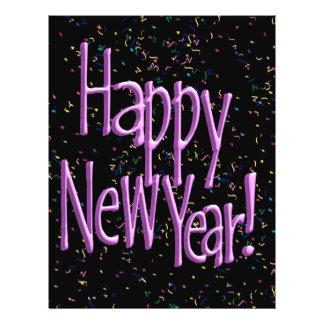 HAPPY NEW YEAR! Text Image 21.5 Cm X 28 Cm Flyer