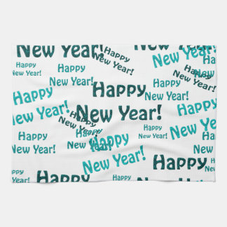 happy new year text towel