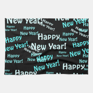 happy new year text towels