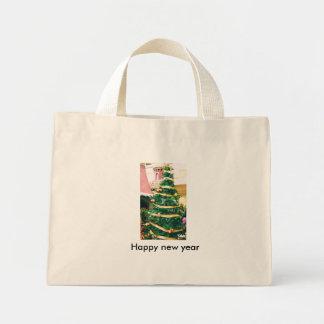 Happy new year mini tote bag