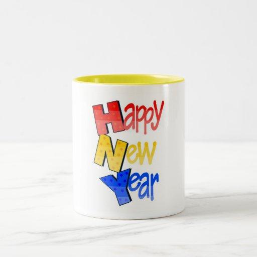 Happy New Year Tri Color 1 Mug