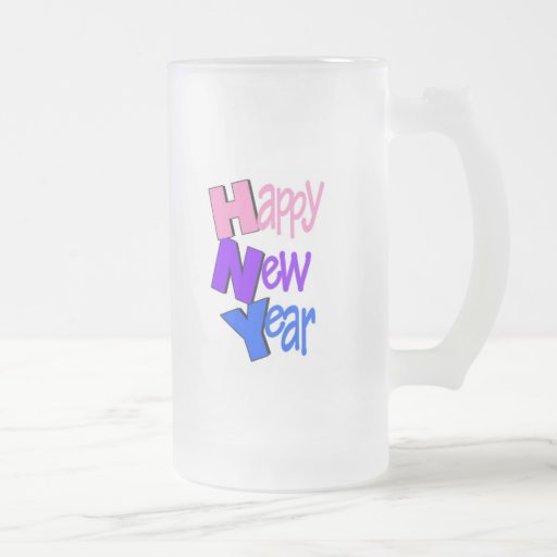 Happy New Year Tri Color 2 Mug