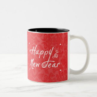 Happy New Year Two-Tone Mug