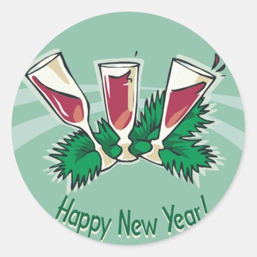 Happy New Year Wine Sticker