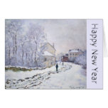 Happy New Year with Claude Monet - Greeting cards