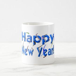 Happy New Year! with Confetti Basic White Mug