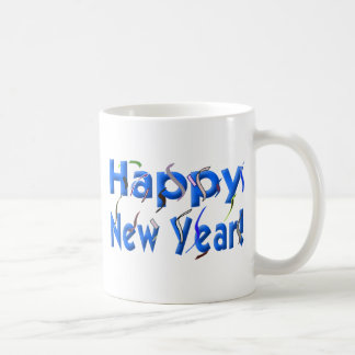 Happy New Year with Confetti Coffee Mugs