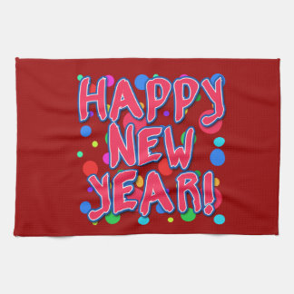 Happy New Year with Fun Dots Towels
