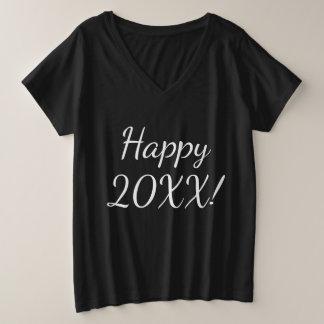 Happy New Year Women's Curvy Size T-Shirt