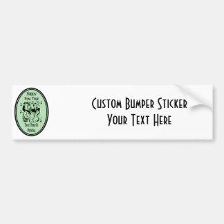 Happy New Year You Drunk Pricks Green Bumper Sticker