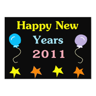 Happy New Years 2011 13 Cm X 18 Cm Invitation Card