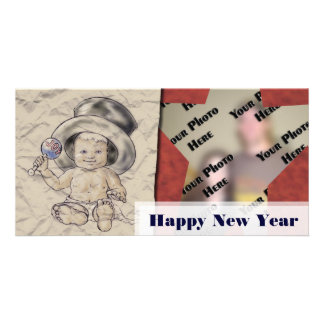 Happy New Years Babe Template Photo Card Template