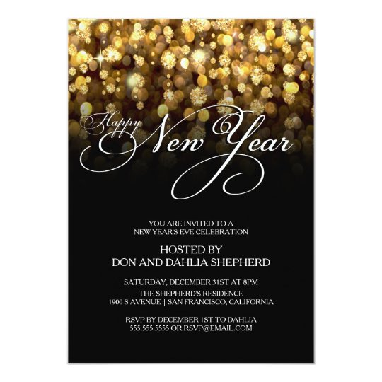 Happy New Year's Eve Party Invitation