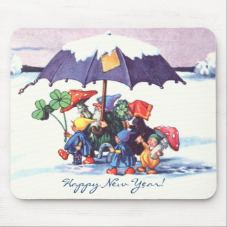 Happy New Year's Gnomes Mouse Pad
