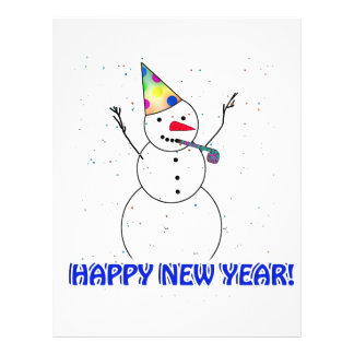 Happy New Years Snowman Flyers