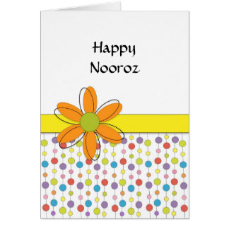 Happy Nooroz Persian New Year Greeting Card-Flower Card