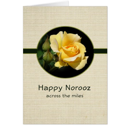 Happy Norooz Across the Miles with Yellow Rose Card