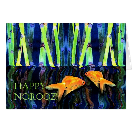 Happy Norooz, Goldfish Swimming Card