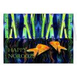 Happy Norooz, Goldfish Swimming Cards
