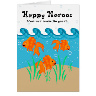 Happy Norooz - Persian New Year - Goldfish And Bub Card