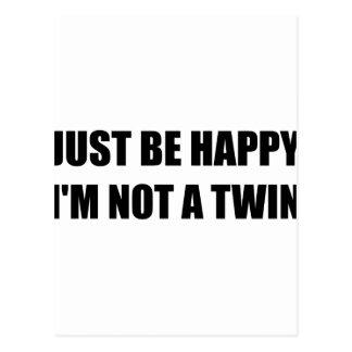 Happy Not A Twin Postcard