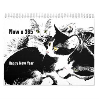 Happy Now Year pet calendar
