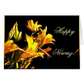 Happy Nowruz Daylily greeting card