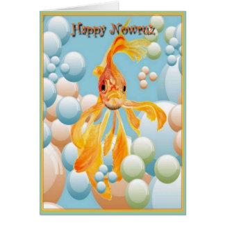 Happy Nowruz Goldfish Card