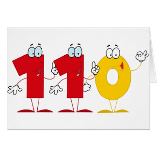 Happy Number 110 Card