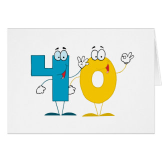 Happy Number 40 Card