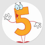 Happy Number 5 Stickers