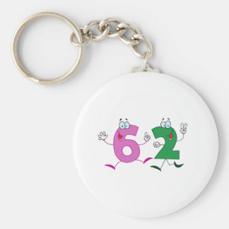 Happy Number 62 Key Chains
