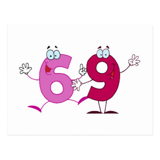 Happy Number 69 Post Cards