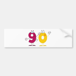 Happy Number 90 Bumper Stickers