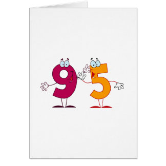 Happy Number 95 Greeting Card