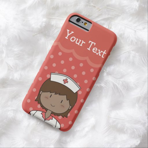 Happy Nurse with Short Hair & Customizable Text iPhone 6 Case