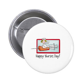 Happy Nurses Day 6 Cm Round Badge