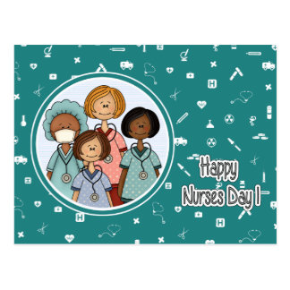 Happy Nurses Day Customizable Postcards
