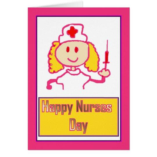 Happy Nurses Day for caring nurse Card