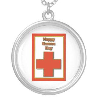 Happy Nurses Day for caring nurse Round Pendant Necklace