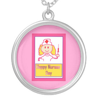 Happy Nurses Day for caring nurse Round Pendant Necklace