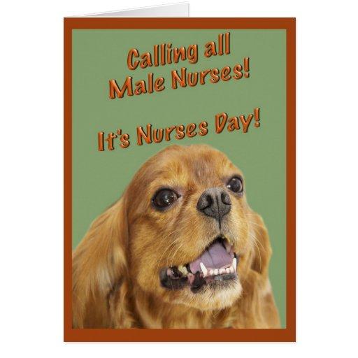 Happy Nurses Day For Male Nurse Greeting Card