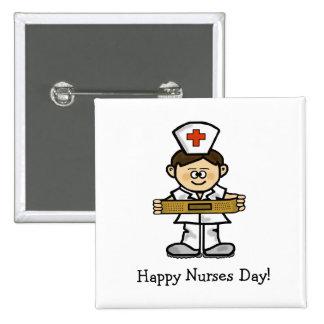 Happy Nurses Day  Male Nurse Button  Customize It!